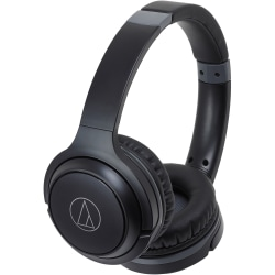 Audio-Technica ATH-S200BT Wireless On-Ear Headphones with Built-in Mic & Controls - Stereo - Wireless - Bluetooth - 32 Ohm - 5 Hz - 32 kHz - Over-the-head - Binaural - Circumaural - Condenser, Omni-directional Microphone - Black