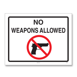 "ComplyRight™ State Weapons Law Poster, English, North Dakota, 8 1/2"" x 11"""