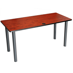 """Boss Office Products 48""""W Training Table With Post Legs, Cherry/Black"""