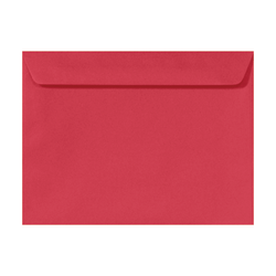 """LUX Booklet Envelopes With Peel & Press Closure, #9 1/2, 9"""" x 12"""", Holiday Red, Pack Of 50"""