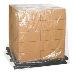"""Office Depot Brand 3 Mil Clear Pallet Covers 60"""" x 40"""" x 85"""", Box of 50"""