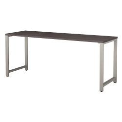 """Bush Business Furniture 400 Series Table Desk, 72""""W x 24""""D, Storm Gray, Standard Delivery"""