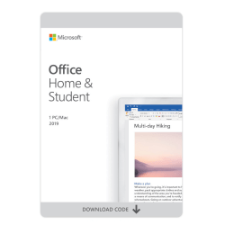Microsoft Office Home and Student 2019, For 1 PC/Mac®, Download