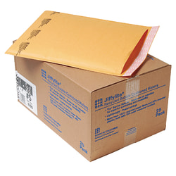 """Sealed Air Jiffylite Self-Seal Bubble Mailers, Size #5, 10 1/2"""" x 16"""", 100% Recycled, Satin Gold, Pack Of 25"""
