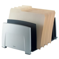 "Fellowes® Office Suites File Sorter, 7 1/2""H x 14 1/2""W x 10 5/16""D, Black/Silver"