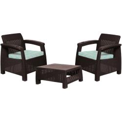MQ FERRARA 3-Piece Stay Furniture Set, Espresso/Turquoise