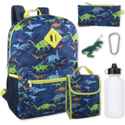 Trailmaker 6-Piece School Backpack And Accessories Set, Dinosaurs