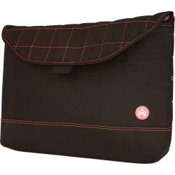 "SUMO 17"" MacBook Pro Sleeve with Pink Stitching - 13"" x 18"" x 1.87"" - Ballistic Nylon - Black"