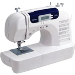 Brother CS-6000i Electric Sewing Machine - Horizontal Bobbin System - 60 Built-In Stitches - Automatic Threading