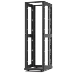 """Schneider Electric NetShelter SX Rack Cabinet - 42U Rack Height x 19"""" Rack Width - Floor Standing - Black - 2254.73 lb Dynamic/Rolling Weight Capacity - 3006.31 lb Static/Stationary Weight Capacity"""