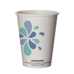 Highmark® Hot Coffee Cups, 12 Oz, White, Pack Of 50