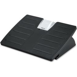 Fellowes® Office Suites Adjustable Footrest, Black/Silver