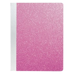 "Office Depot® Brand Fashion Composition Notebook, 7-1/2"" x 9-3/4"", Wide Ruled, 160 Pages (80 Sheets), Pink Glitter"