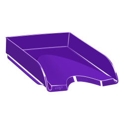 "CEP Plastic Gloss Letter Tray, 2-5/8""H x 10-1/8""W x 13-11/16""D, Purple"