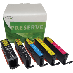 IPW Preserve Brand 280/281XXL Extra-High-Yield Remanufactured Ink Cartridges, Pack Of 5 Cartridges