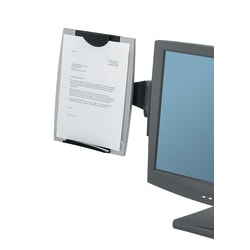 Fellowes® Office Suites Monitor Mount Copyholder, Black/Silver