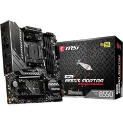 MSI MAG B550M MORTAR Desktop Motherboard - AMD Chipset - Socket AM4 - Micro ATX - 128 GB DDR4 SDRAM Maximum RAM - DIMM, UDIMM - 4 x Memory Slots - Gigabit Ethernet - HDMI - DisplayPort - 6 x SATA Interfaces