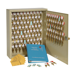 STEELMASTER® Dupli-Key® Two-Tag Key Cabinet, Sand