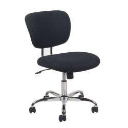 OFM Essentials Fabric Mid-Back Chair, Black/Chrome