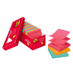 "Post-it® Notes Pop-up Notes, 3"" x 3"", Cape Town Color Collection, Pack Of 18 Pads"