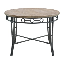 """Powell Mosley Dining Table, 30-1/4"""" x 42"""", Natural/Black"""