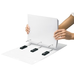 """Find It® Gapless View 3-Ring Binder, 4"""" Oval Rings, White"""