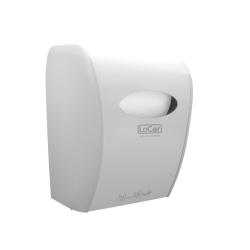 Solaris Paper® LoCor® Wall-Mount Mechanical Paper Towel Dispenser, White