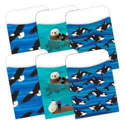 "Barker Creek Peel & Stick 2-Design Pockets, 3-1/2"" x 5-1/8"", Sea & Sky, Set Of 60"
