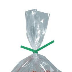 "Partners Brand Paper Twist Ties, 5/32"" x 4"", Green, Case Of 2,000"