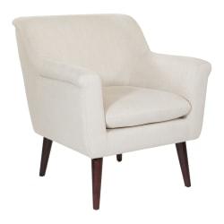 Office Star™ Dane Accent Chair, Wheat/Dark Coffee
