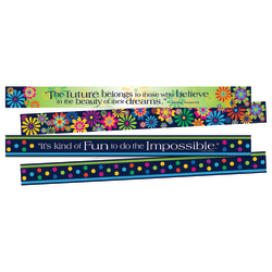 """Barker Creek Double-Sided Border Strips, 3"""" x 35"""", Italy, Set Of 24"""