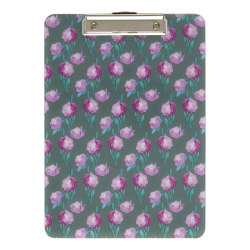 "Office Depot® Fashion Clipboard, 9"" x 12-1/2"", Peonies"
