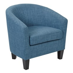 Ave Six Work Smart™ Ethan Tub Chair, Blue Denim/Dark Espresso