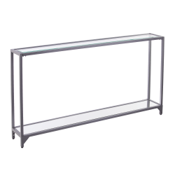 "Southern Enterprises Bergen Console Table, 29""H x 56""W x 8""D, Silver"