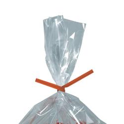 "Partners Brand Paper Twist Ties, 5/32"" x 5"", Orange, Case Of 2,000"