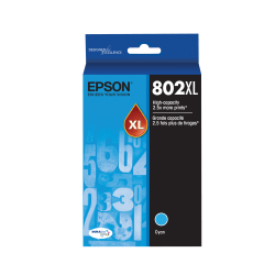 Epson® DuraBrite® Ultra T802XL220-S High-Yield Cyan Ink Cartridge