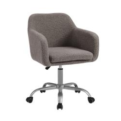 Linon Ryker Fabric Mid-Back Chair, Gray/Silver