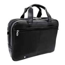 McKlein Pearson Leather Briefcase, Black