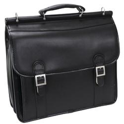 McKlein Halsted Leather Briefcase, Black
