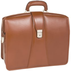 McKlein Harrison Leather Briefcase, Brown