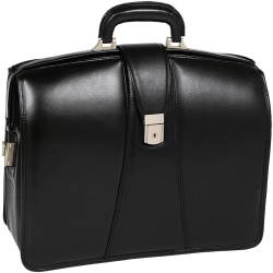 McKlein Harrison Leather Briefcase, Black