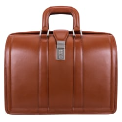 McKlein Morgan Leather Briefcase, Brown