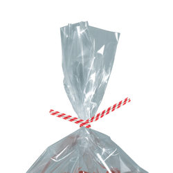 "Partners Brand Paper Twist Ties, 5/32"" x 6"", Red Stripe, Case Of 2,000"