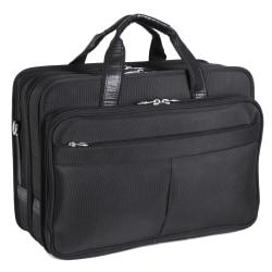 McKlein Walton Nylon Expandable Briefcase, Black
