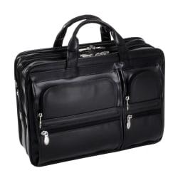 McKlein Hubbard Leather Briefcase, Black