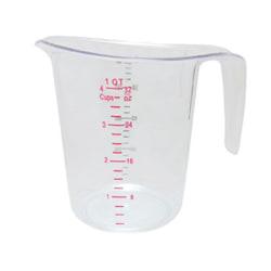 Winco Liquid Measuring Cup, 1 Qt, Clear