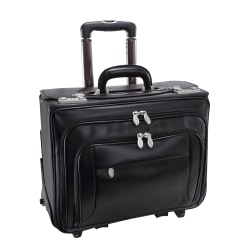 McKlein Sheriden Leather Catalog Case, Black