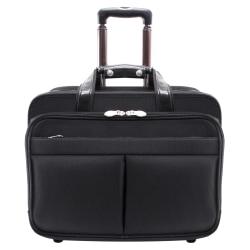 McKlein Roosevelt Detachable-Wheeled Nylon Laptop Case, Black