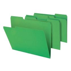 "Office Depot® Brand Heavy-Duty File Folders, 3/4"" Expansion, Letter Size, Green, Pack Of 18 Folders"