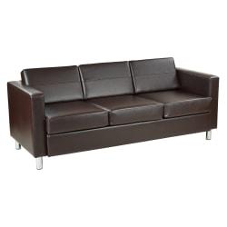 Office Star™ Avenue Six Pacific Sofa, Espresso/Chrome